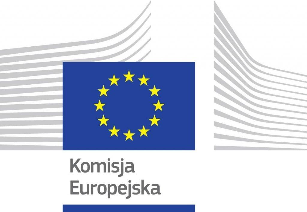 Logo Komisji Europejskiej.